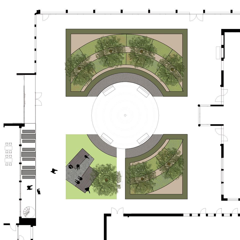 Planung Innenhof Bildungszentrum