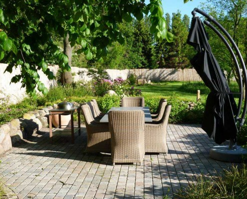 Familiengarten, Sitzplatz im Garten, Dipl. Ing. Heino Gamradt