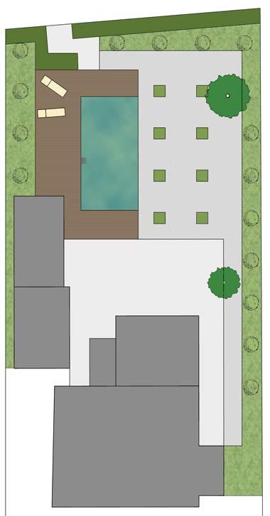 Minimalistisch angelegter Kiesgarten, Planung und Ausführung Heino Gamradt