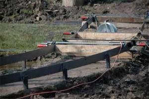Holzsteg im Bau